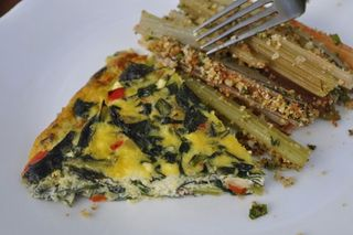 Slices of Crustless Quiche